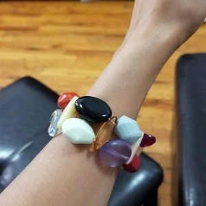 Jewelry - multi colored stretch beaded bracelet
